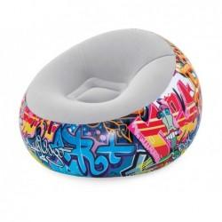 Fotel dmuchany 112x112x66 cm. Graffiti Bestway 75075