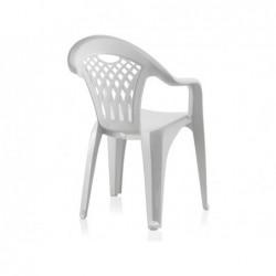 Meble ogrodowe Krzesło białe Cancun SP Berner 43027 | Basenyweb