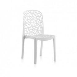 Krzesło do mebli ogrodowych model Flora białe SP Berner 55109
