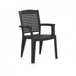 Krzesło do mebli ogrodowych Antracytowe Model SP Berner 55117
