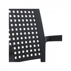 Krzesło do mebli ogrodowych Antracytowe Model SP Berner 55117 | Basenyweb