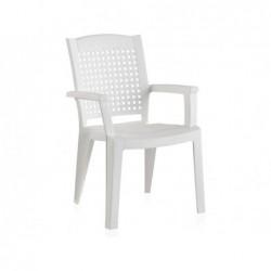 Meble ogrodowe Krzesło metalowe białe Model SP Berner 55154