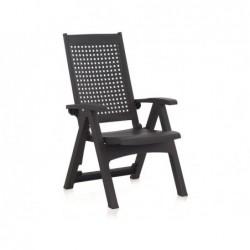 Meble ogrodowe Fotel wielopozycyjny Model Metal Antracyt SP Berner 55351