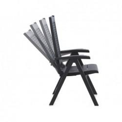 Meble ogrodowe Fotel wielopozycyjny Model Metal Antracyt SP Berner 55351   Basenyweb