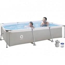 Basen odpinany z filtrem 1136 L. Jilong 17771EU Stalowy basen super prostokątny 300x207x65 cm.