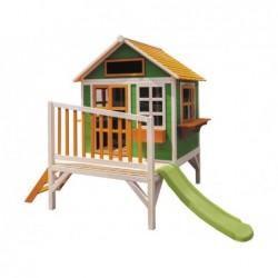 Zielono-pomarańczowy domek zabaw dla dzieci Flam z Masgames MA800595
