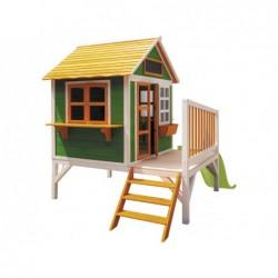 Zielono-pomarańczowy domek zabaw dla dzieci Flam z Masgames MA800595 | Basenyweb