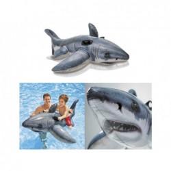 Nadmuchiwane biały rekin o wymiarach 173x107 cm. Intex 57525 | Basenyweb
