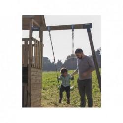 Plac zabaw Teide z drabinką do małp i pojedynczą huśtawką firmy Masgames MA700105 | Basenyweb