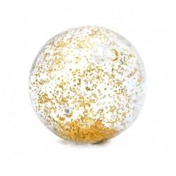 Nadmuchiwana piłka z brokatem 71 cm. Intex 58070