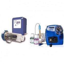 Solinowe chlorinatory Gre SCGPH60 baseny z kontrolerem pH do 60 000 L.