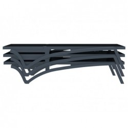 Leżak Costa Czarny i antracyt 35x193x68 cm. | Basenyweb