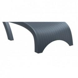 Leżak szary Brava 44x187x73 cm. | Basenyweb