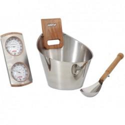 Zestaw akcesoriów do tradycyjnej sauny 4 sztuki. POOLSTAR SN-SA006   Basenyweb